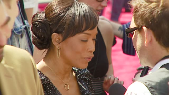 Tom Selleck and Angela Bassett at the 'Meet The Robinsons' Premiere at the El Capitan Theatre in Hollywood California on March 25 2007