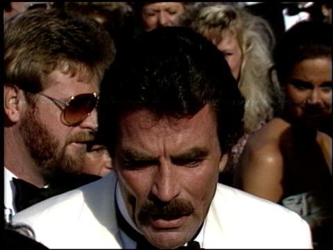 Tom Selleck at the 1986 Emmy Awards at the Pasadena Civic Auditorium in Pasadena California on September 21 1986