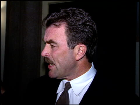 tom selleck at the images of ourselves conference at paramount studios in hollywood california on february 24 1996 - paramount studios stock videos and b-roll footage