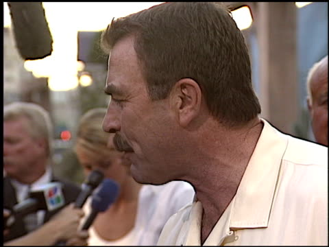 tom selleck at the 'open range' premiere at the cinerama dome at arclight cinemas in hollywood, california on august 11, 2003. - arclight cinemas hollywood stock videos & royalty-free footage