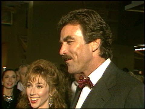 tom selleck at the three men and a baby premier at century city cinema in century city, california on november 23, 1987. - century city stock videos & royalty-free footage