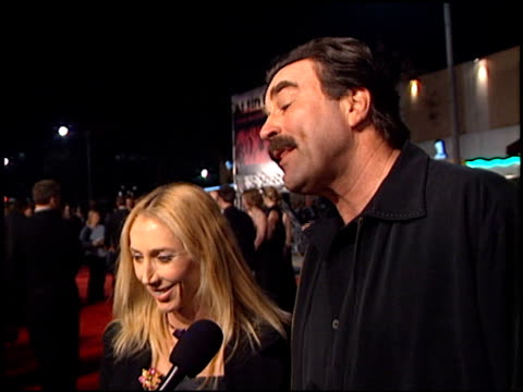 tom selleck at the 'we were soliders' premiere at the mann village theatre in westwood california on february 22 2002 - regency village theater stock-videos und b-roll-filmmaterial