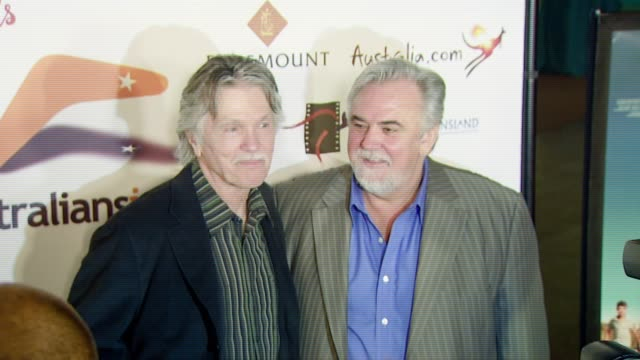 vídeos de stock, filmes e b-roll de tom skerritt and director rod hardy at the 'december boys' los angeles premiere at director's guild of america in hollywood california on september 6... - director's guild of america