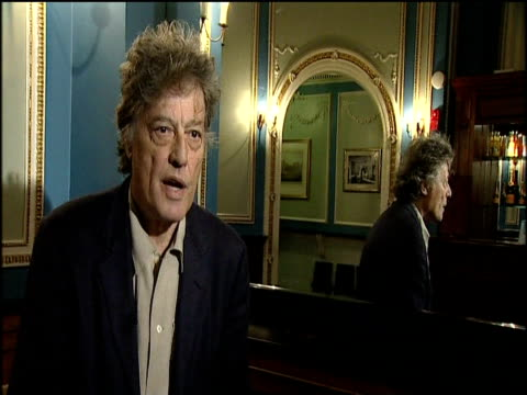 tom stoppard describes how fellow playwright nobel prize winner harold pinter altered the way plays were written with his distinctive style 'that's a... - harold pinter stock videos and b-roll footage