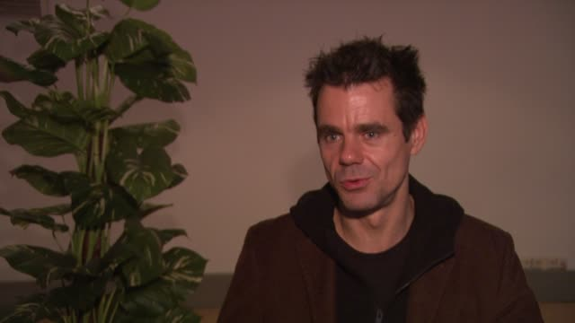 tom tykwer on showing two films in the main selection at the berlin film festival at the 59th berlin film festival deutschland '09 interviews at... - deutschland stock videos & royalty-free footage