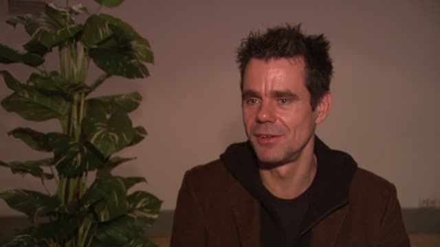 tom tykwer on what he originally wanted to achieve with the film at the 59th berlin film festival deutschland '09 interviews at berlin - deutschland stock videos & royalty-free footage