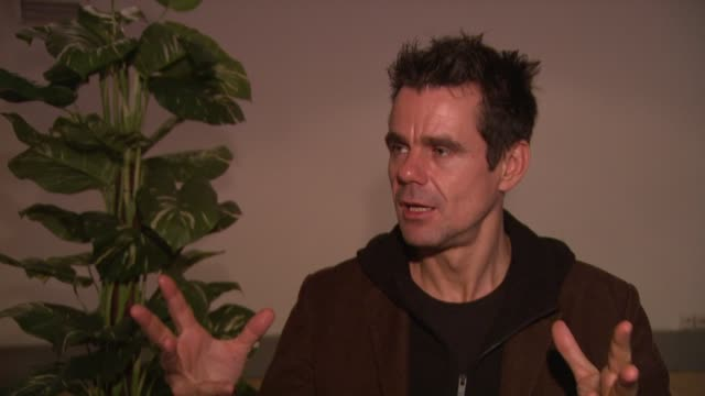 tom tykwer on whether he had his short film preorganised before approaching the other directors at the 59th berlin film festival deutschland '09... - deutschland stock videos & royalty-free footage