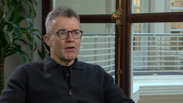tom watson saying the scrapping of the free license fee for over75's is a broken tory party manifesto pledge - media interview stock videos & royalty-free footage