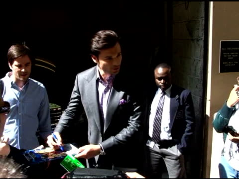 Tom Welling coming out of the Regis and Kelly Show in New York 05/06/11