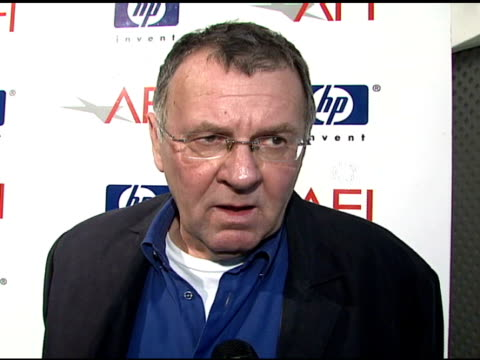 Tom Wilkinson on how it feels to be honored by AFI at the 2007 AFI Awards Honors Creative Teams at Four Seasons Hotel in Los Angeles Calfironia on...