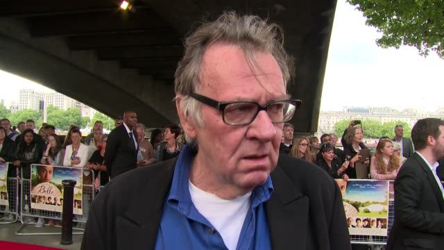 tom wilkinson on movie reaction, the director and upcoming features at the 'belle' premiere at bfi southbank on 5 june, 2014 in london, england. - bfi southbank stock videos & royalty-free footage