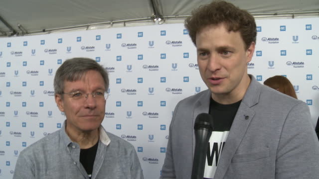 tom wilson and marc kielburger on the we charity, beneficiaries and all the good that comes from we day at the we day california celebrates 16,000... - beneficiary stock videos & royalty-free footage