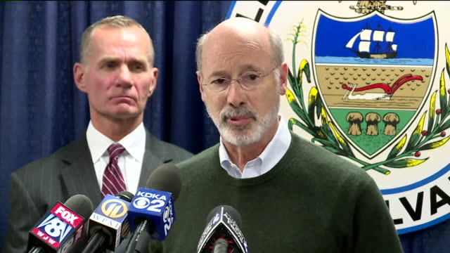 tom wolf, governor of pennsylvania, spoke at press conference after robert bowers stormed into the tree of life congregation synagogue in the in... - governor stock videos & royalty-free footage