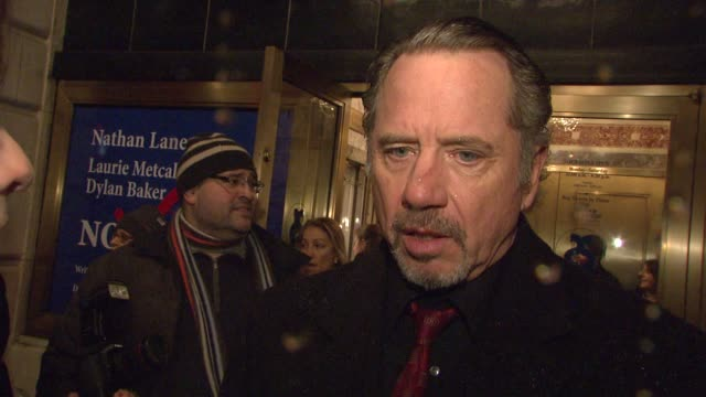 tom wopat on how mamet's 'glengarry glen ross' changed his life, working with nathan lane, and their future project together at the the opening of... - nathan lane stock videos & royalty-free footage