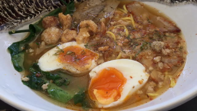 tom yum pork noodle soup - rice ball stock videos & royalty-free footage