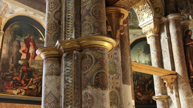 tomar, convent of the order of christ (convento de cristo), charola, romanesque templar church, 12th century - circa 12th century stock videos & royalty-free footage