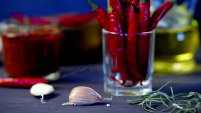 トマトとチリのサルサ - 酢点の映像素材/bロール