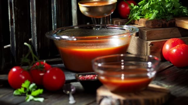 tomato soup - tomato soup stock videos and b-roll footage