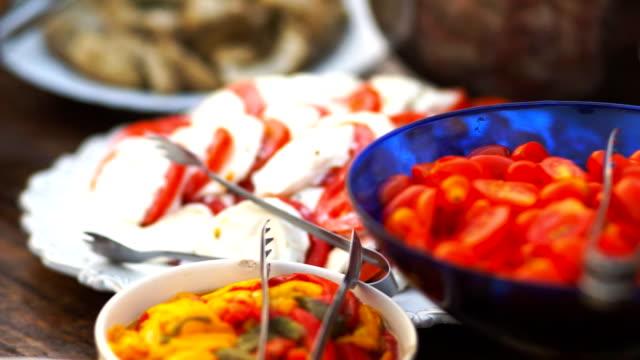 Tomatoes and mozzarella cheese salad