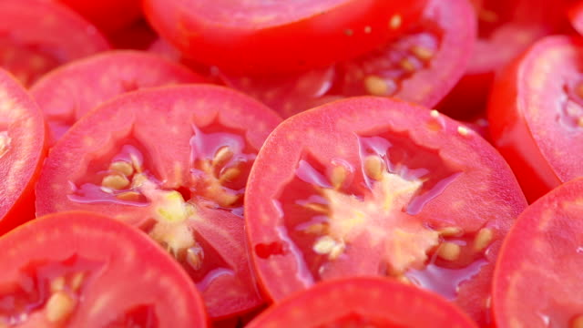 tomatoes sliced - chopped food stock videos and b-roll footage