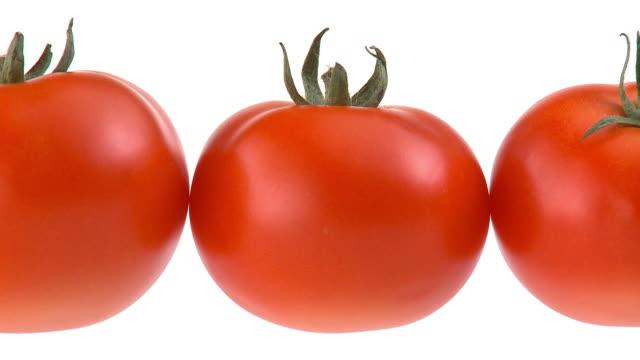 vídeos y material grabado en eventos de stock de lazo de hd: tomates - cinco objetos