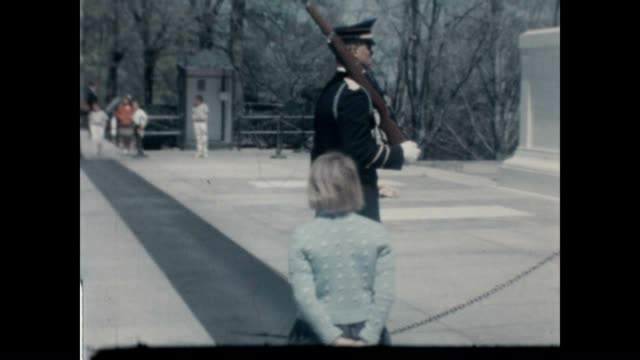 tomb of the unknown soldier with the first african american sentinel fred moore from a home movie archive. - tomb of the unknown warrior westminster abbey stock videos & royalty-free footage