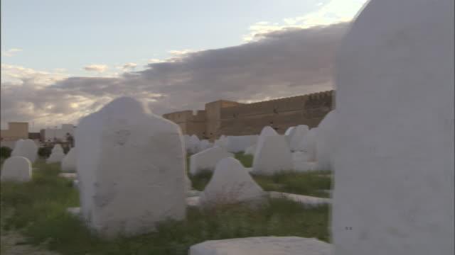 MS PAN Tomb stones outsiding  mosque of uqba aka / Kairouan, Kairouan Governorate, Tunisia