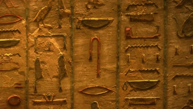 tomb with old wall paintings in ancient egypt. valley of the kings in luxor. - archaeology stock videos & royalty-free footage