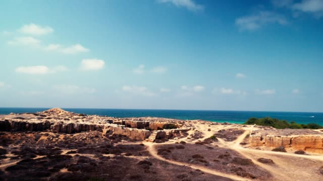 tombs of the kings in paphos cyprus - republic of cyprus stock videos and b-roll footage