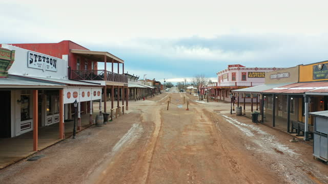 tombstone is a famed historic wild west town in tombstone, southern arizona on january 21, 2021. the ok coral, the main street, and allen street are... - non urban scene stock videos & royalty-free footage