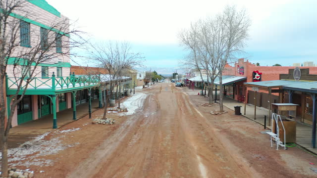 tombstone is a famed historic wild west town in tombstone, southern arizona on january 21, 2021. the ok coral, the main street, and allen street are... - wild west stock videos & royalty-free footage