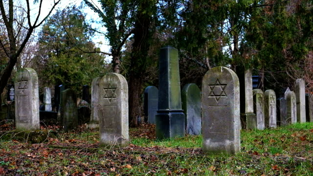 tombstone with star of david - star of david stock videos and b-roll footage