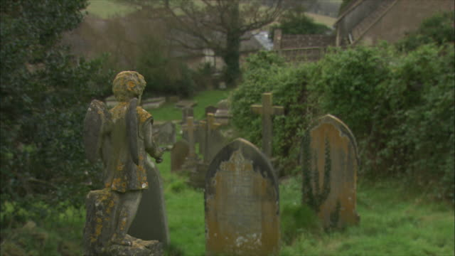 co zo ws tombstones at old cemetery in swainswick village / somerset, united kingdom - gravestone stock videos & royalty-free footage