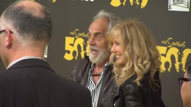 Tommy Chong and Shelby Chong at The Simpsons 500th Episode Celebration On The Yellow Carpet in Hollywood CA on 2/13/12