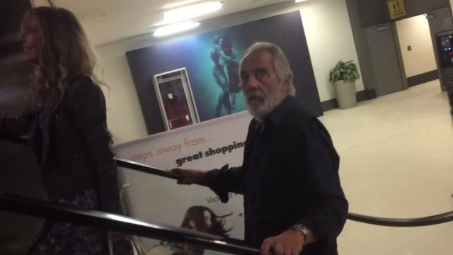Tommy Chong his wife Shelby arrive at Landmark Theater in Los Angeles in Celebrity Sightings in Los Angeles