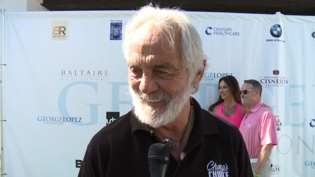 tommy chong on being a part of today, on being involved in the organization, on his golf game at the 10th annual george lopez foundation celebrity... - toluca lake stock videos & royalty-free footage