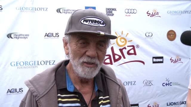 tommy chong on being a part of today, what he appreciates about george and his philanthropic efforts, if he's an avid golfer, his favorite person to... - toluca lake stock videos & royalty-free footage