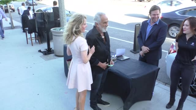 tommy chong outside baltaire restaurant in brentwood in celebrity sightings in los angeles, - brentwood los angeles stock videos & royalty-free footage