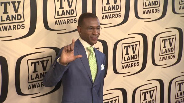 tommy davidson at tv land awards 10th anniversary arrivals at lexington avenue armory on april 14 2012 in new york ny - tv land awards stock videos and b-roll footage