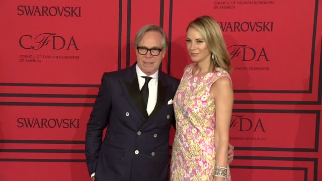 Tommy Hilfiger and Dee Hilfiger at 2013 CFDA Fashion Awards Arrivals at Alice Tully Hall on June 03 2013 in New York New York