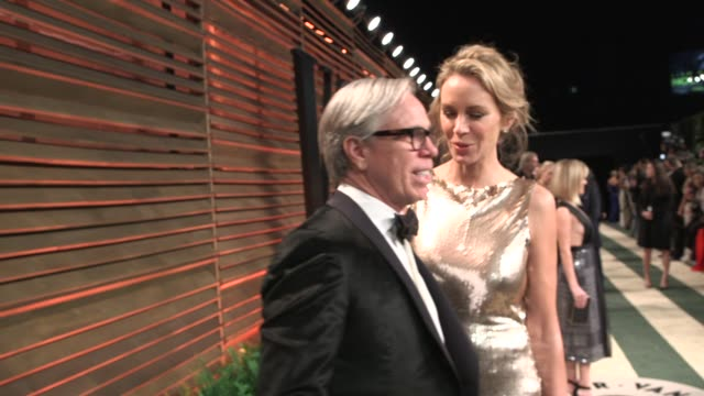 Tommy Hilfiger and Dee Hilfiger at the 2014 Vanity Fair Oscar Party Hosted By Graydon Carter Arrivals on March 02 2014 in West Hollywood California
