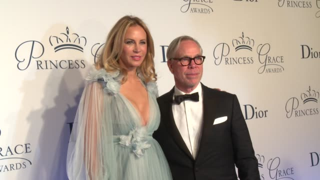 tommy hilfiger and dee hilfiger at the 2016 princess grace awards gala at cipriani 25 broadway on october 24 2016 in new york city - cipriani manhattan stock videos & royalty-free footage