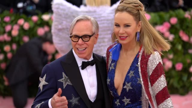 Tommy Hilfiger and Dee Ocleppo at The 2019 Met Gala Celebrating Camp Notes on Fashion Arrivals at Metropolitan Museum of Art on May 06 2019 in New...