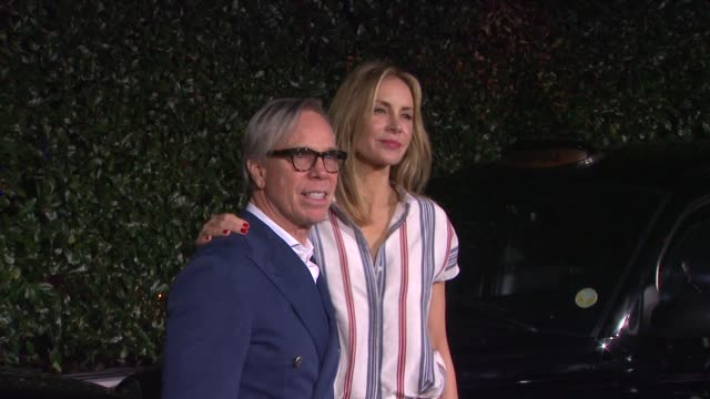 tommy hilfiger and dee ocleppo at topshop topman la opening party at cecconi's on 2/13/2013 in los angeles ca - tommy hilfiger designer label stock videos and b-roll footage