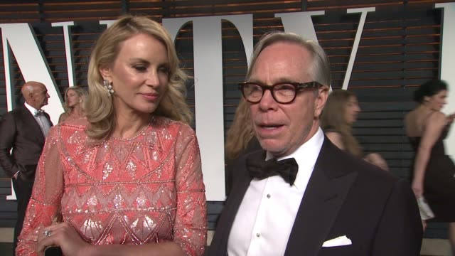 tommy hilfiger at the 2015 vanity fair oscar party hosted by graydon carter at the wallis annenberg center for the performing arts on february 22,... - oscar party stock videos & royalty-free footage