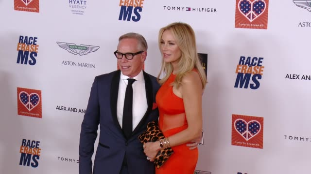 tommy hilfiger at the 22nd annual race to erase ms in los angeles ca - race to erase ms stock videos and b-roll footage