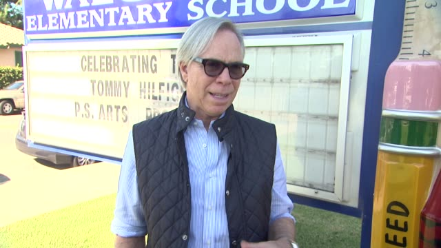 INTERVIEW Tommy Hilfiger on the event at Tommy Hilfiger Visits Tommy Hilfiger/PS Arts Education Program At Walgrove Elementary School on 10/15/13 in...