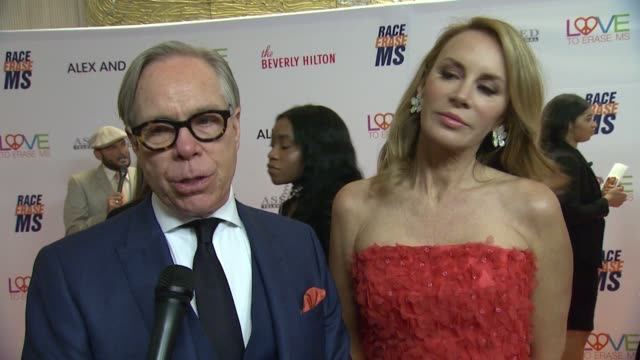 INTERVIEW Tommy Hilfiger on tonight's event at The 24th Annual Race to Erase MS Gala in Los Angeles CA