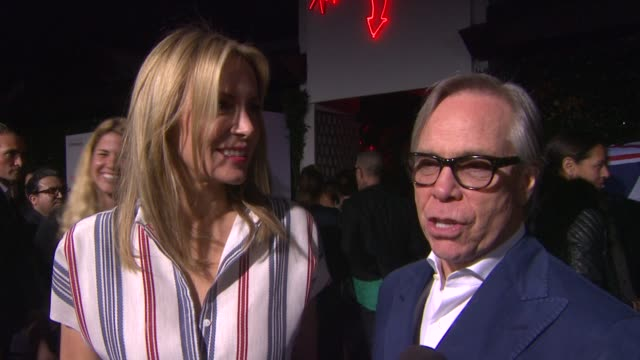 interview tommy hilfiger on topshop coming to los angeles at topshop topman la opening party at cecconi's on 2/13/2013 in los angeles ca - tommy hilfiger designer label stock videos and b-roll footage