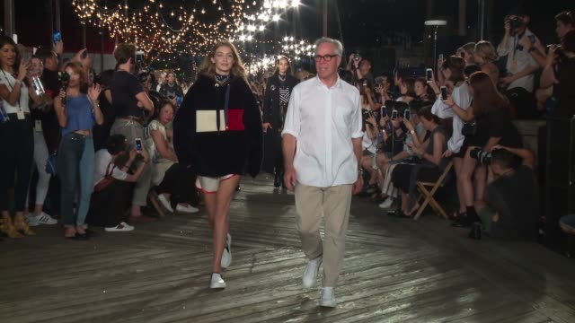 clean tommy hilfiger september 2016 new york fashion week at pier 16 south street seaport on september 09 2016 in new york city - tommy hilfiger designer label stock videos and b-roll footage